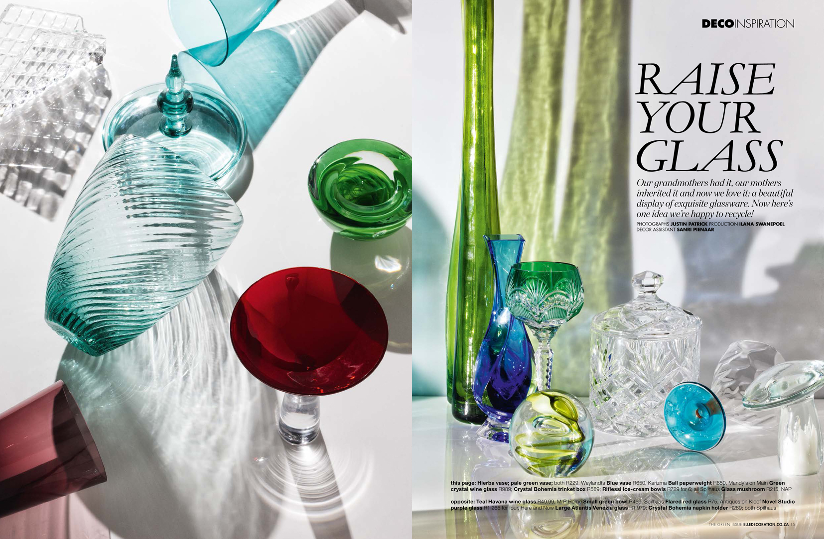 Elle Decor glass inspiration